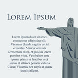 Cristo för vektorRio de Janeiro staty Arkivfoton