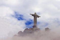 Cristo il redentore in nuvole, Rio Immagine Stock Libera da Diritti