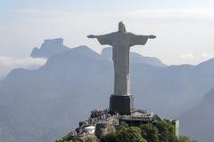 Cristo il redentore - Rio de Janeiro - Brasile Immagini Stock Libere da Diritti