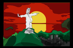 Cristo il redentore in Rio De Janiero Fotografia Stock Libera da Diritti