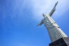 Cristo la estatua del redentor en Rio de Janeiro, el Brasil Fotografía de archivo