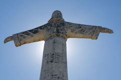 Cristo la estatua del redentor o de Christo Redentor en Lubango, Angola imagen de archivo libre de regalías