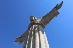 Cristo la estatua del rey en Lisboa Foto de archivo libre de regalías