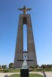 Cristo la estatua del rey en Lisboa portugal Imágenes de archivo libres de regalías