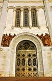 Cristo las puertas de la catedral del salvador, Moscú, Rusia imágenes de archivo libres de regalías