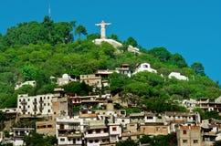 Cristo monumental en las colinas de Atachi Taxco, México fotografía de archivo