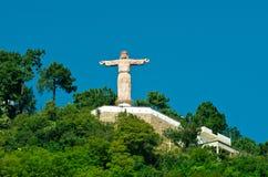 Cristo monumental en las colinas de Atachi Taxco, México imágenes de archivo libres de regalías