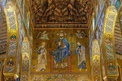 Cristo na majestade com Peter e Paul - Palermo Fotografia de Stock