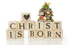 Cristo é nascido Fotografia de Stock Royalty Free