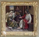 Cristo nella Camera di Maria e di Martha Fotografia Stock