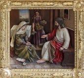Cristo nella Camera di Maria e di Martha Fotografia Stock Libera da Diritti