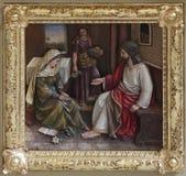 Cristo nella Camera di Maria e di Martha Immagine Stock