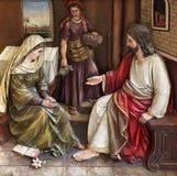 Cristo nella Camera di Maria e di Martha Immagini Stock