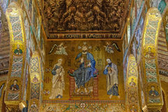 Cristo nella maestà con Peter e Paul - Palermo Fotografia Stock