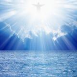 Cristo nos céus foto de stock