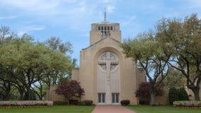 Cristo o rei Catholic Church e escola em Dallas, Texas imagem de stock
