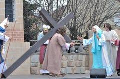 Cristo que lleva la cruz Foto de archivo