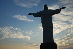 Cristo Redentor bei Corcovado Stockfotografie