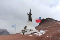 Cristo Redentor - Cordillera de los Andes Royalty Free Stock Image