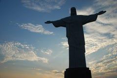 Cristo Redentor på Corcovado Arkivbild