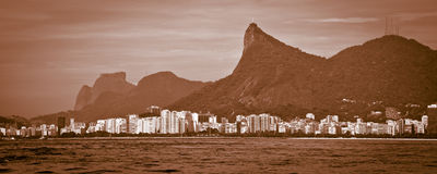 Cristo Redentor seen from sea Stock Photos