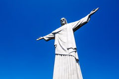 Cristo Redentor statue at the Corcovado mountain in Rio de Janeiro, Brazil. The 38-metre tall Cristo Redentor statue at the Corcovado mountain in Rio de Janeiro stock photo