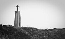 Cristo-Rei. Christ the King Statue overlooking Lisbon, Portugal royalty free stock image
