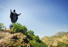 Cristo rei jesus statue landmark dili east timor Stock Images
