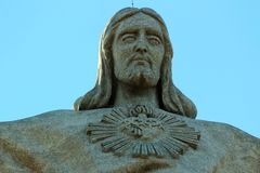 The Cristo Rei monument of Jesus Christ in Lisbon, Portugal.  Royalty Free Stock Photos