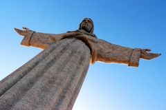 The Cristo Rei monument of Jesus Christ in Lisbon, Portugal.  Royalty Free Stock Photography