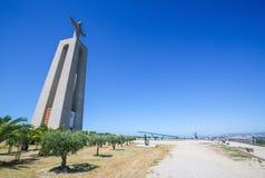 Cristo Rei o Cristo la statua di re a Lisbona Fotografie Stock Libere da Diritti
