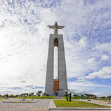 Cristo-Rei o re Christ Sanctuary in Almada Fotografia Stock Libera da Diritti