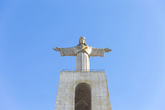 Cristo Rei, the statue of Jesus, in Almada; Across the river fro Royalty Free Stock Photo