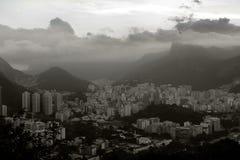 Cristo sobre a cidade no Rio Fotografia de Stock