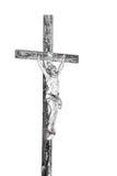 Cristo sull'incrocio in bianco e nero Fotografie Stock