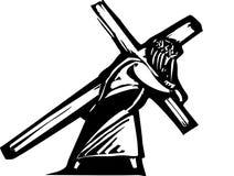 Cristo y cruz Imagen de archivo libre de regalías