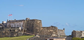 cristobal堡垒胡安・波多里哥圣 免版税库存图片