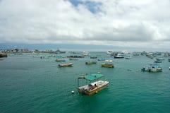 cristobal гавань san galapagos Стоковые Фотографии RF