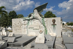 Cristobal Colon Cemetery, Havana, Cuba Stock Photos