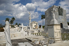Cristobal Colon Cemetery, Havana, Cuba Royalty Free Stock Photos
