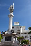 Cristobal Colon monument in old San Juan Royalty Free Stock Images