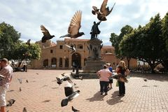 Cristobal Colon Park in Dominican Republic Royalty Free Stock Images