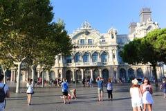 Cristobal Colon square, Barcelona Stock Photo
