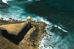 cristobal del Diablo堡垒garita圣 免版税图库摄影