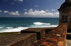 cristobal fort juan san Arkivfoto