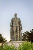 Cristopher哥伦布雕象通信机小山的,旧金山,美国 免版税库存照片