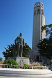 Cristopher Columbus statue at Coit Tower Royalty Free Stock Image