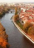 Crisul Repede flod Oradea Royaltyfri Bild