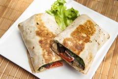 Crisy χορτοφάγο Burrito Στοκ Φωτογραφία