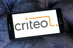 Criteo reciblant le logo de société Images stock